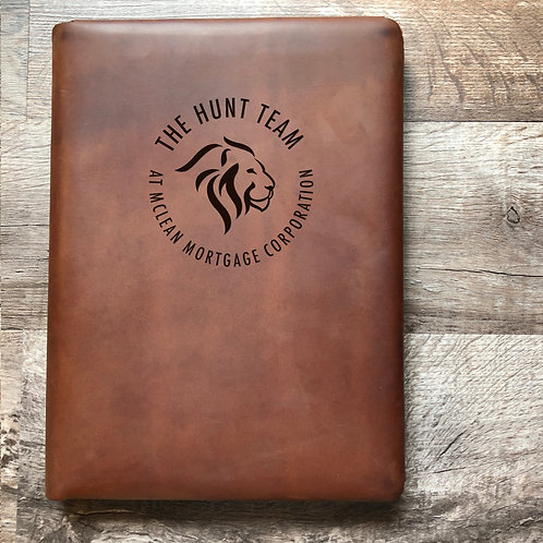 Custom Order Beth H - Executive Cut - Refillable Leather Folio 20201215
