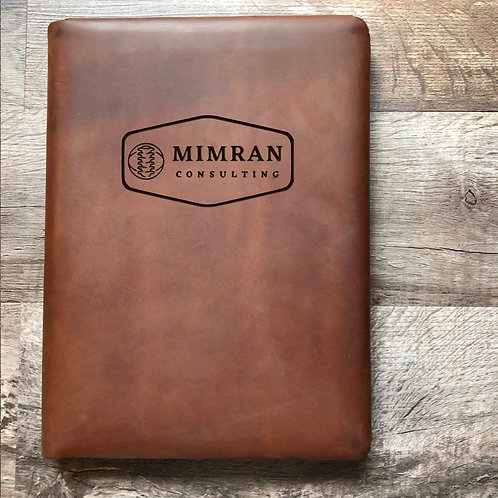 Custom Order Ronnie M - Executive Cut - Refillable Leather Folio 20210121