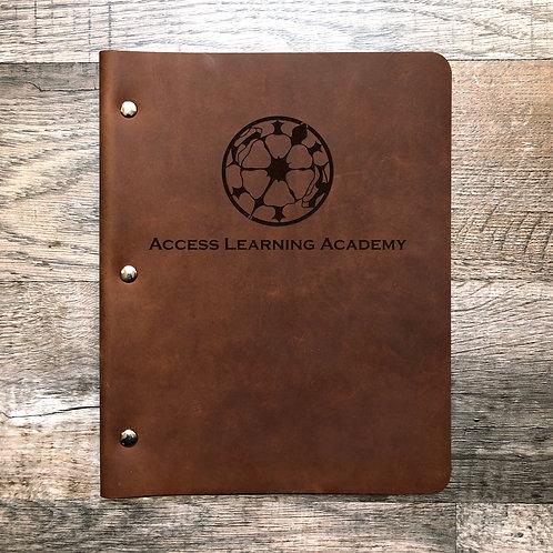 Custom Order David H - Slim Cut - Refillable Leather Binder 20200622