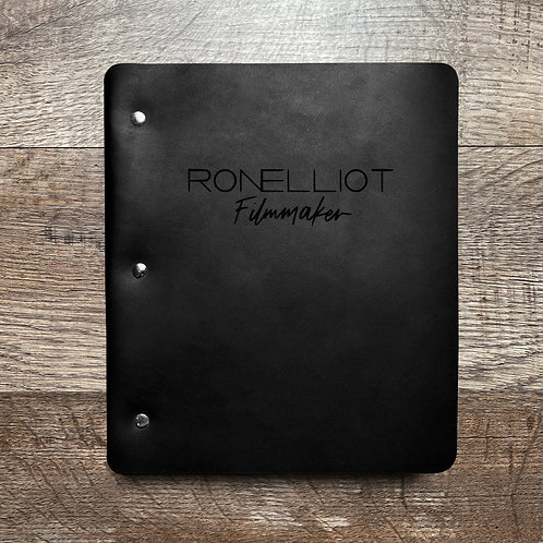 Custom Order Ron E - Wide Cut - Refillable Leather Binder 20201020