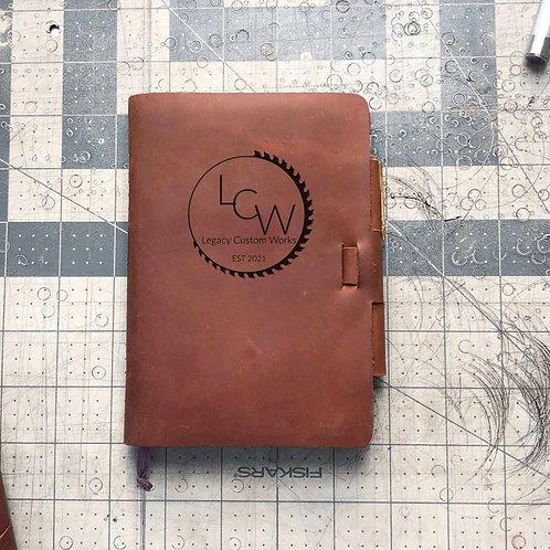 Custom Order LCW - Mini Cut - Refillable Leather Journal 20210115