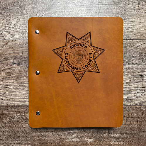 Custom Order Charlie S - Wide Cut - Refillable Leather Binder 20210211