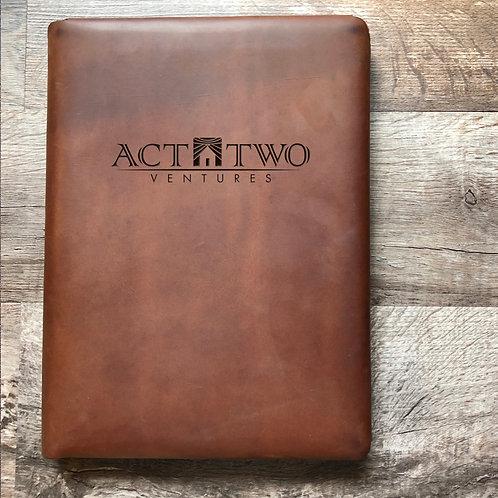 Custom Order Michelle B - Executive Cut - Refillable Leather Folio 20210210