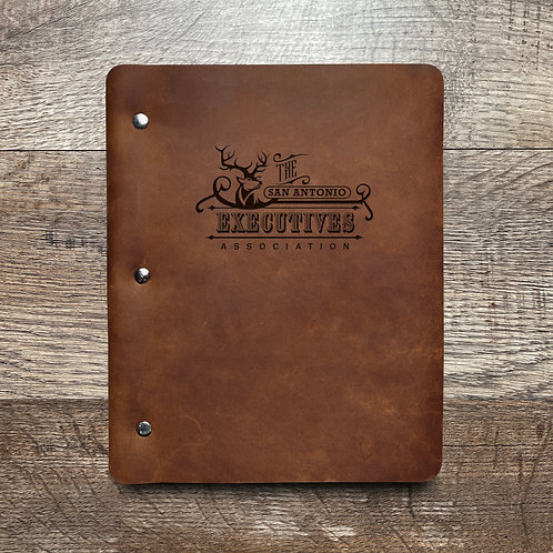 Custom Order Jim H - Slim Cut - Refillable Leather Binder 20201118