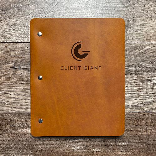 Custom Order Client Giant - Slim Cut - Refillable Leather Binder 20201009