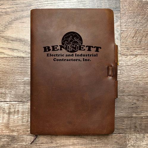 Custom Order Stephen B - Classic Cut - Refillable Leather Journal 20210218