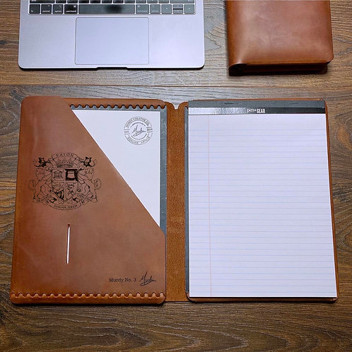 Custom Order Ryan E - Executive Cut - Refillable Leather Folio 20201113