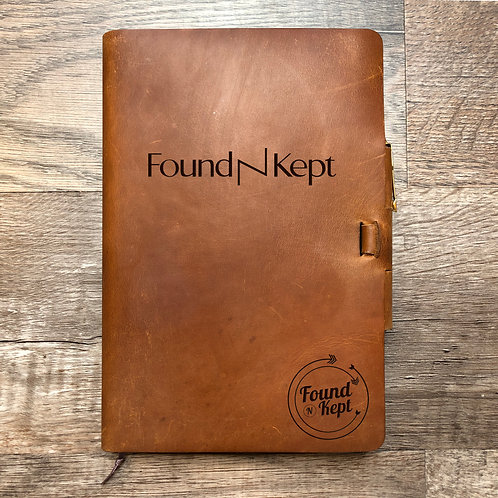 Custom Order Christian A - Classic Cut - Refillable Leather Journal 20210223