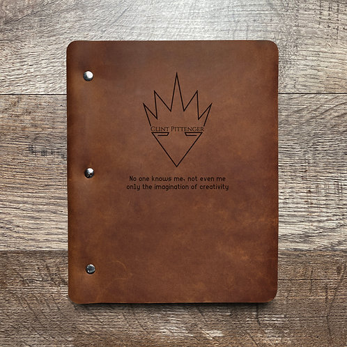 Custom Order Clint P - Slim Cut - Refillable Leather Binder 20200903