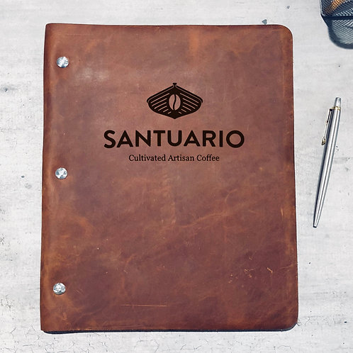Custom Order Matthew M - No. 1 Wide Cut - Refillable Leather Binder 20200629