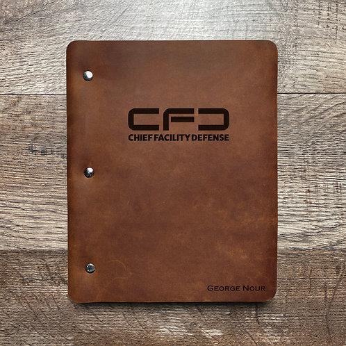 Custom Order George N - Slim Cut - Refillable Leather Binder 20210119