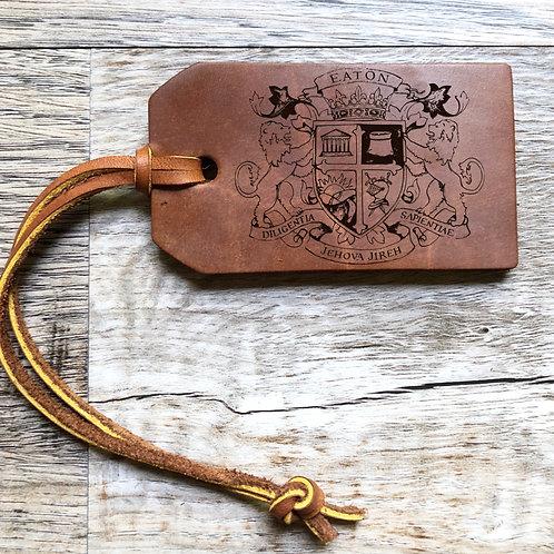 Custom Order Ryan E - Custom Leather Bag Tag 20201113