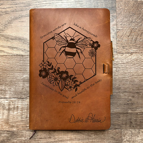 Custom Order Catherine C - Classic Cut - Refillable Leather Journal 20201230