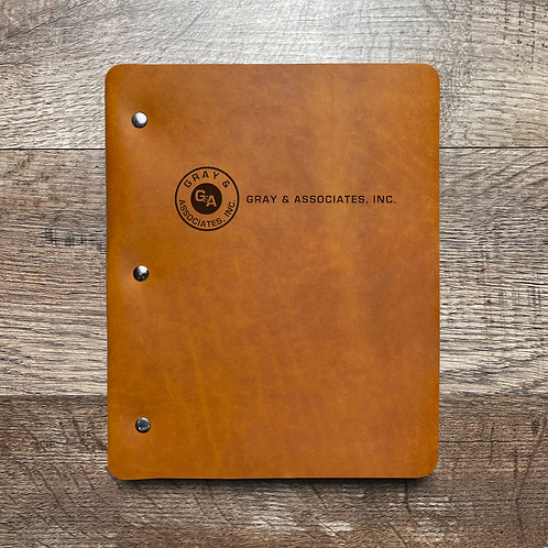 Custom Order Joe G - Slim Cut - Refillable Leather Binder 20210112