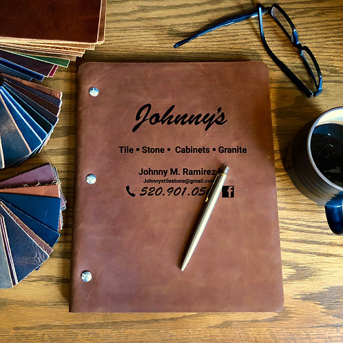 Custom Order Johnny R - Composition Cut - Refillable Leather Journal 20201105