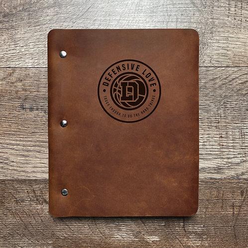 Custom Order Kenny H - Slim Cut - Refillable Leather Binder 20201215