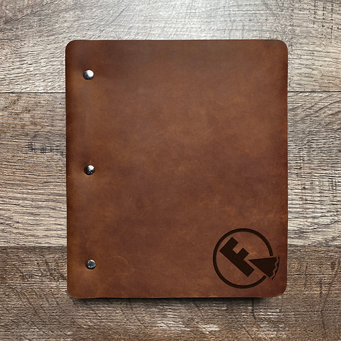 Custom Order Michele C - Wide Cut - Refillable Leather Binder 20200826