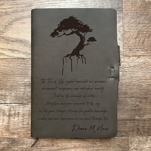 Custom Order Donna H - Classic Cut - Refillable Leather Journal 20201209