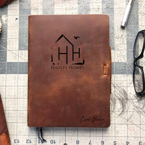 Custom Order Chad G - Metric Cut - Refillable Leather Journal 20210212