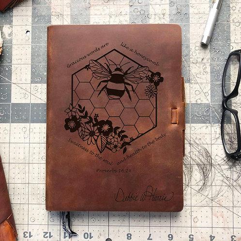 Custom Order Catherine C - Metric Cut - Refillable Leather Journal 20201230