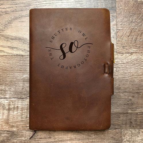 Custom Order Tater N - Classic Cut - Refillable Leather Journal 202012