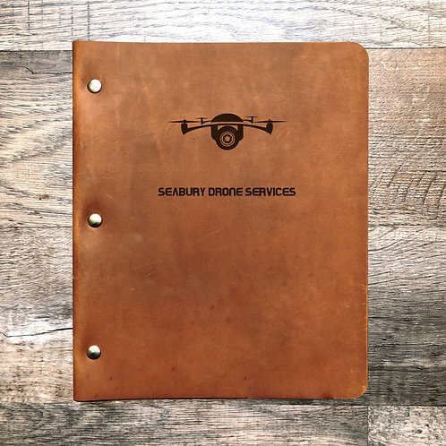Custom Order Matt S - Wide Cut - Refillable Leather Binder Presale 20200807