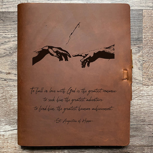 Custom Order Andrew - Composition Cut - Refillable Leather Journal 20210113