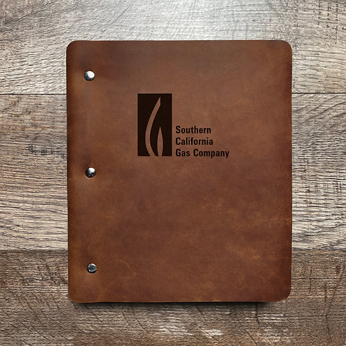 Custom Order Ronald S - Wide Cut - Refillable Leather Binder 20201211