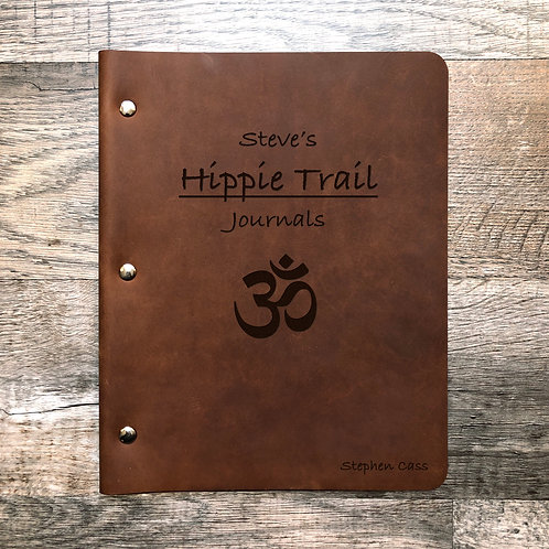 Custom Order Steve C  - Slim Cut - Refillable Leather Binder 20200626 Hippie