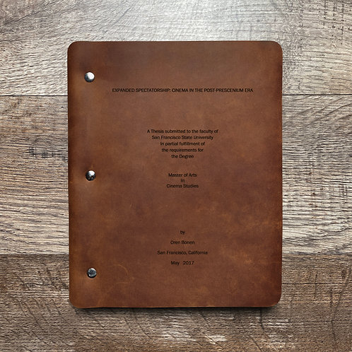 Custom Order Oren B - Slim Cut - Refillable Leather Binder 20200818