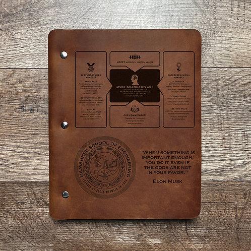 Custom Order Lars L - Slim Cut - Refillable Leather Binder 20201221 2