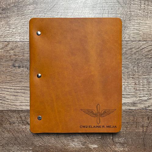 Custom Order Juan M - Slim Cut - Refillable Leather Binder 20201217