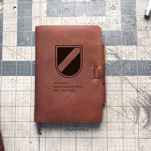 Custom Order Jeffrey H - Mini Cut - Refillable Leather Journal 20201125