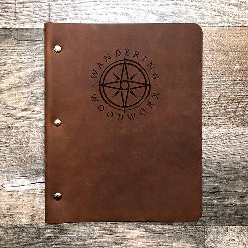 Custom Order Mike Q - Slim Cut (Old Design) - Refillable Leather Binder 20200805