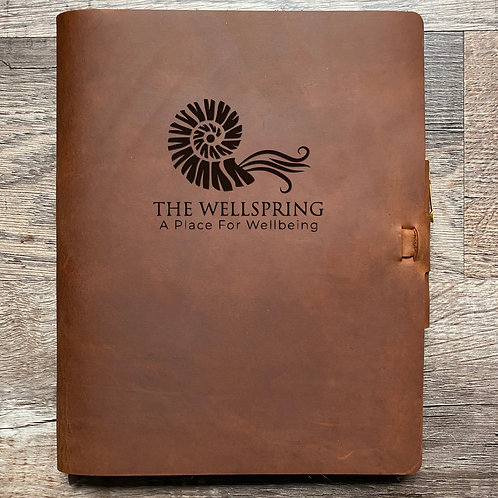 Custom Order David R - Composition Cut - Refillable Leather Journal