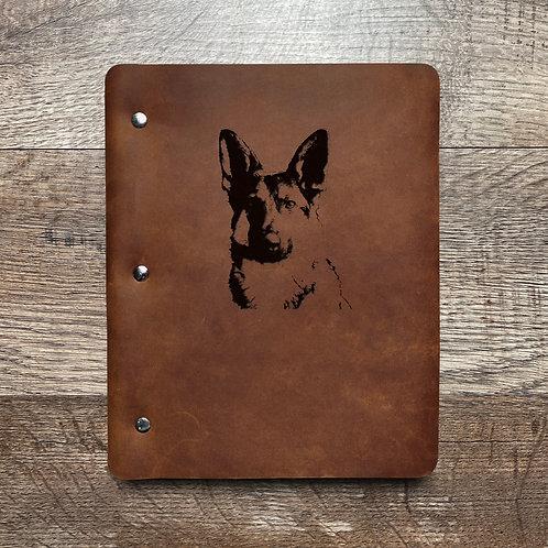 Custom Order Alex - Slim Cut - Refillable Leather Binder 20210218