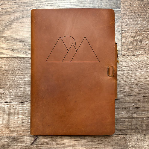 Custom Order Conner C - Campfire Classic Cut - Refillable Leather Journal 202101