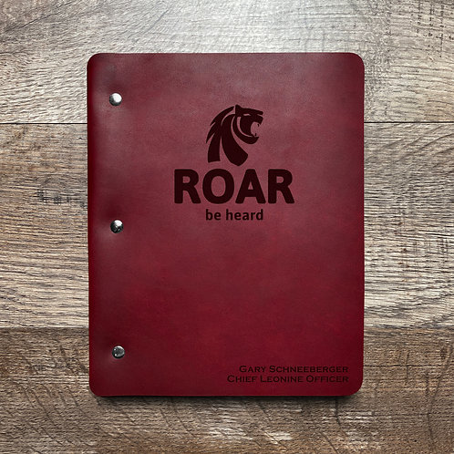 Custom Order Gary S - Slim Cut - Refillable Leather Binder 20201118