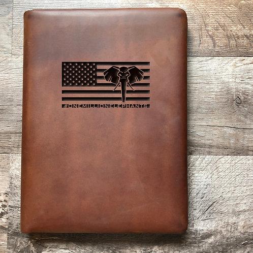 Custom Order Kham P - Executive Cut - Refillable Leather Folio 20210217