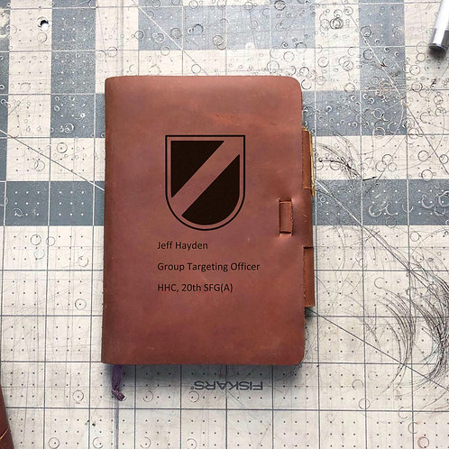 Custom Order Jeffrey H - Mini Cut - Refillable Leather Journal 20200903