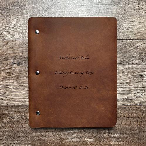 Custom Order Eric S - Slim Cut - Refillable Leather Binder 20201006