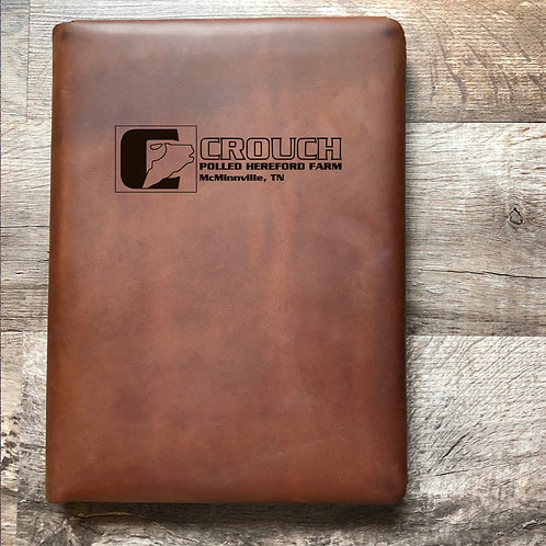 Custom Order Ryan C - Executive Cut - Refillable Leather Folio 2020118