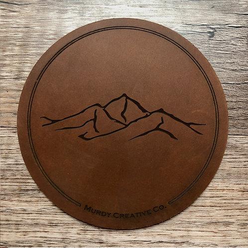 Custom Order Sean D - Leather 4 Coaster Set - 20201013
