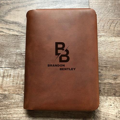 Custom Order Brandon B - Travel Cut - Refillable Leather Folio 20201112