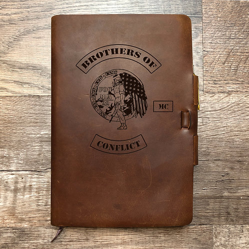 Custom Order Chris T - Classic Cut - Refillable Leather Journal 20210129