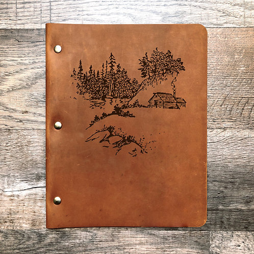 Ruben L Custom Order - Campfire Slim Cut - Refillable Leather Binder 20200721