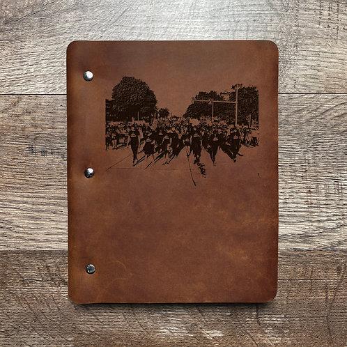 Custom Order Harold H - Slim Cut - Refillable Leather Binder 20210203