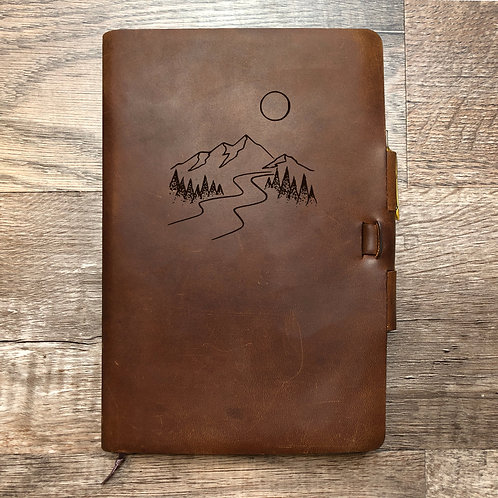 Custom Order Amy T - Classic Cut - Refillable Leather Journal 20210204