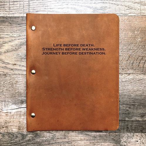 Custom Order Parker H - Quote - No. 1 - Refillable Leather Binder