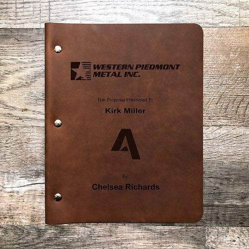 Custom Order Chelsea R. Wide Cut - Refillable Leather Binder 20200519V1